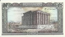 LIBAN 50 LIVRES 1988 UNC P 65 D - Libano