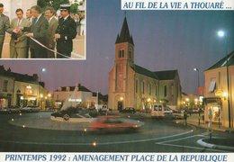 THOUARE-SUR-LOIRE (44). Aménagement Place De La République. Printemps 1992 - France