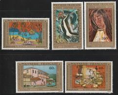 POLYNESIE - Poste Aérienne - PA N° 98/102 ** (1975) Tableaux - Poste Aérienne