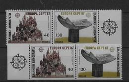 2 Series De Grecia Nº Yvert 1632/33 Y 1634/35 ** - Grecia