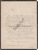 Doodsbrief Dame Anne Cathérine De Vleeschouwer °1799 Grimbergen †1863 Sint-Stevens-Woluwe Woluwe-Saint-Étienne (N32) - Décès