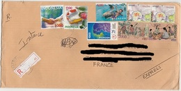 Indonesia Registered Cover To France Plis D' Indonésie Voyagé - Indonésie