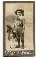 CDV ENFANT KID Boy Garçon Cheval Jouet Toy Horse Beauty Cute Mignon Chapeau Fashion Mode LAHEURTE MOREZ JURA - Anciennes (Av. 1900)