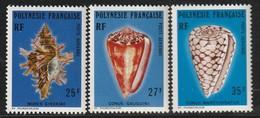 POLYNESIE - Poste Aérienne - PA N° 114/6 ** (1977) Coquillages - Poste Aérienne