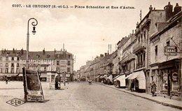 Le Creusot (71) : Place Schneider Et Rue D'Autun - Le Creusot