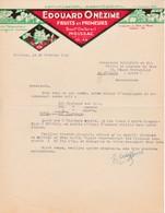 82 MOISSAC COURRIER 1946 Fruits Et Primeurs Edouard ONEZIME X31 Tarn Et Garonne ILLE SUR TET Chat - France