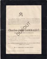Doodsbrief Charles Jean Cammaert °1826 Neder-over-Heembeek †1888 Burgemeester/Bourgmestre Neder-over-Heembeek  (N33) - Obituary Notices