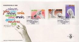 Aruba Set On FDC - Childhood & Youth