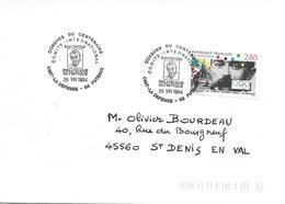 2889 - CENTENAIRE DE LA CRÉATION Du Comité International Olympique - PIERRE DE COUBERTIN -CNIT LA DEFENSE - Marcophilie (Lettres)