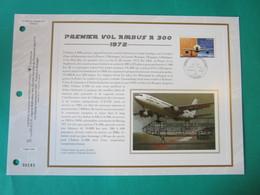 1er JOUR.DOCUMENT PHILATÉLIQUE C.E.F. - PREMIER VOL AIRBUS A 300, 1972 (Sur Soie).    Oblitéré Le 26/10/2002. - Other