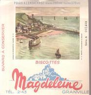Buvard Biscottes Magdeleine Série A Buvard N°15 DIELETTE Transbordement Du Minerai - Biscottes