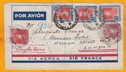 Juillet 1935 - Lettre Recommandée De Buenos Aires, Argentine Par Avion AIR FRANCE Vers Londres, GB   - Enveloppe Spécial - Poste Aérienne