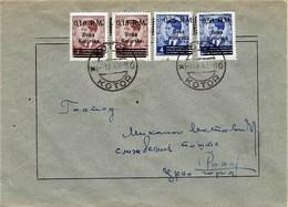 Deutsches Reich / Kotor  - Mi-Nr 7/10 Umschlag Echt Gelaufen / Cover Used  (A816) - Besetzungen 1938-45