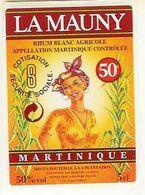 61 - Etiquette Pour Mignonnette - RHUM BLANC AGRICOLE - LA MAUNY - Martinique - Rhum