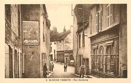 Dpts Div.-ref-AF966- Côte D Or - St Seine L Abbaye -rue Gambetta - Magasin Remond -magasins - Affiche Peugeot - - France