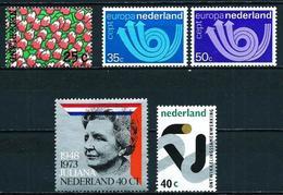 Holanda Nº 977-982/3-988/9 En Nuevo - Periodo 1949 – 1980 (Juliana)