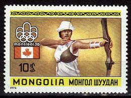 MONGOLIE  N° 832  * * JO 1976 Tir A L Arc - Tiro Con L'Arco