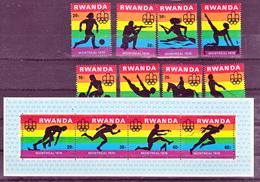 Rwanda 761 768 Et Bf 68 Montreal 76  Neuf ** TB MNH Sin Charnela - Rwanda