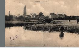 Cpa 36 Deols Indre La Prairie Cliché Leo Houdière Déstockage à Saisir - France