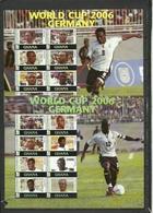 GHANA  Soccer Football World Cup 2006  2 Sheetlets - 2006 – Germany