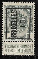 Brussel  1910 Typo Nr. 13A - Precancels