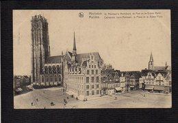 Belgique / Malines Mchelen / Cathédrale St Saint Rombaut,la Poste Et La Grand Place - Mechelen