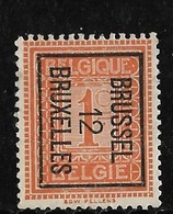 Brussel  1912 Typo Nr. 29Bzz - Vorfrankiert