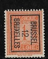 Brussel  1912 Typo Nr. 29Bzz - Typo Precancels 1912-14 (Lion)