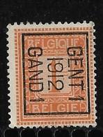 Gent  1912 Typo Nr. 30Bzz - Préoblitérés