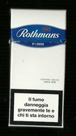 Tabacco Pacchetto Di Sigarette Italia - Rothmans Da 10 Pezzi Blue - Tobacco - Tabac -Tabak - Tabaco - Etuis à Cigarettes Vides