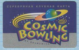 UKRAINE Zaporozhye Zaporizhzhia Bowling Club Silver Card  Restaurant Trade Service Sector - Andere
