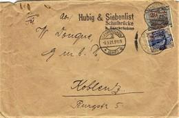 Saar - Umschlag Echt Gelaufen / Cover Used # 05.09.1921  (A820) - 1920-35 Saargebiet – Abstimmungsgebiet