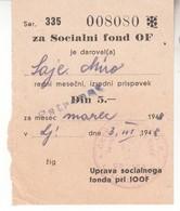 3808   5 DIN  SOCIALNI FOND  OF - Slovenia