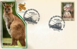 Australian Frilled Lizard & Kangaroo, Entier Postal Faune D'Australie - Reptiles & Batraciens