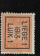 Luik 1913 Typo Nr. 39Bzz - Precancels