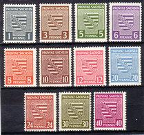 SBZ Nr. 73/84x O. Nr. 80x**  (T 10070) - Sowjetische Zone (SBZ)