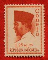 1.25 + 1.25 Rupia President Sukarno CONEFO (Mi 474 YT - ) 1965 Indonesie / Indonesien / Indonesia POSTFRIS / MNH ** - Indonesien