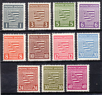 SBZ Nr. 73/84x O. Nr. 80x**  (T 10071) - Sowjetische Zone (SBZ)