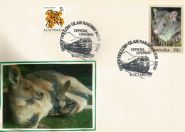 Australian Mountain Brushtail Possum & Kangaroo, Entier Postal Faune D'Australie - Timbres