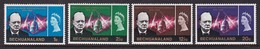 SERIE NEUVE DU BECHUANALAND - ANNIVERSAIRE DE LA MORT DE SIR WINSTON CHURCHILL N° Y&T 145 A 148 - Sir Winston Churchill