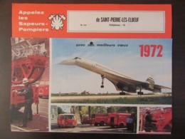 France - Calendrier Des Pompiers De St-Pierre-Lès-Elbeuf 1972 - Photos Concorde Et Vieux Camions - Calendriers