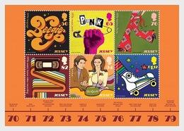 Jersey 2019 - Popular Culture - The 1970s Souvenir Sheet Mnh - Jersey