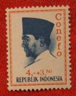4 + 3.50 Rupia President Sukarno CONEFO (Mi 478 YT - ) 1965 Indonesie / Indonesien / Indonesia POSTFRIS / MNH ** - Indonesien