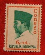 6 + 4 Rupia President Sukarno CONEFO (Mi 479 YT - ) 1965 Indonesie / Indonesien / Indonesia POSTFRIS / MNH ** - Indonesien