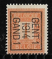 Gent 1914  Typo Nr. 46Bzz - Vorfrankiert