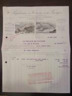 Facture Des Papeteries De Voiron Et Des Gorges (Isère) Datée Du 30 Mai 1938 - France