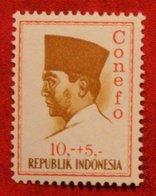 10 + 5 Rupia President Sukarno CONEFO (Mi 480 YT - ) 1965 Indonesie / Indonesien / Indonesia POSTFRIS / MNH ** - Indonesien