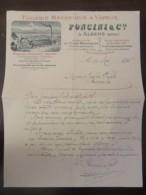 Document Commercial De La Tuilerie Mécanique à Vapeur Poncini & Cie à Albens (Savoie) Daté Du 30 Mai 1896 - France