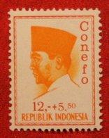 12 + 5.50 Rupia President Sukarno CONEFO (Mi 481 YT - ) 1965 Indonesie / Indonesien / Indonesia POSTFRIS / MNH ** - Indonesien