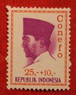 25 + 10 Rupia President Sukarno CONEFO (Mi 484 YT - ) 1965 Indonesie / Indonesien / Indonesia POSTFRIS / MNH ** - Indonesien